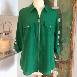 🍁 💯 Michael Kors Green Top Size XL ❗️LIKE NEW❗️
